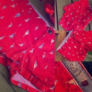 SO Red Sailboat Shorts